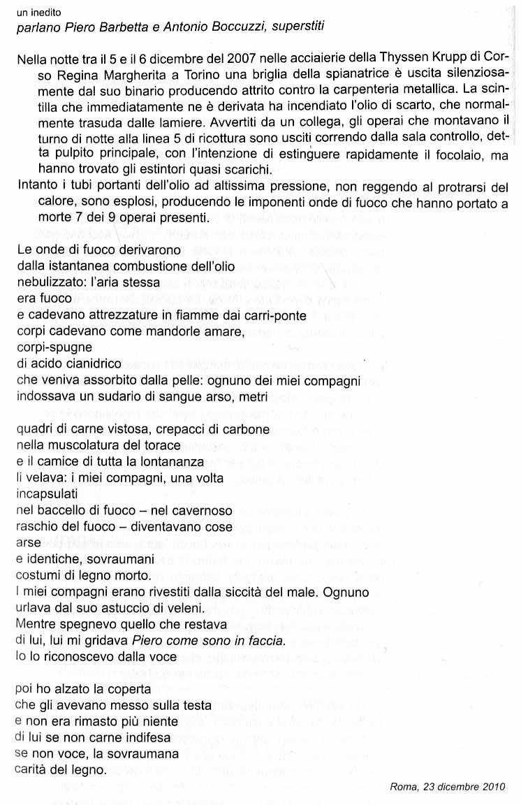 Maria Grazia Calandrone, inedito