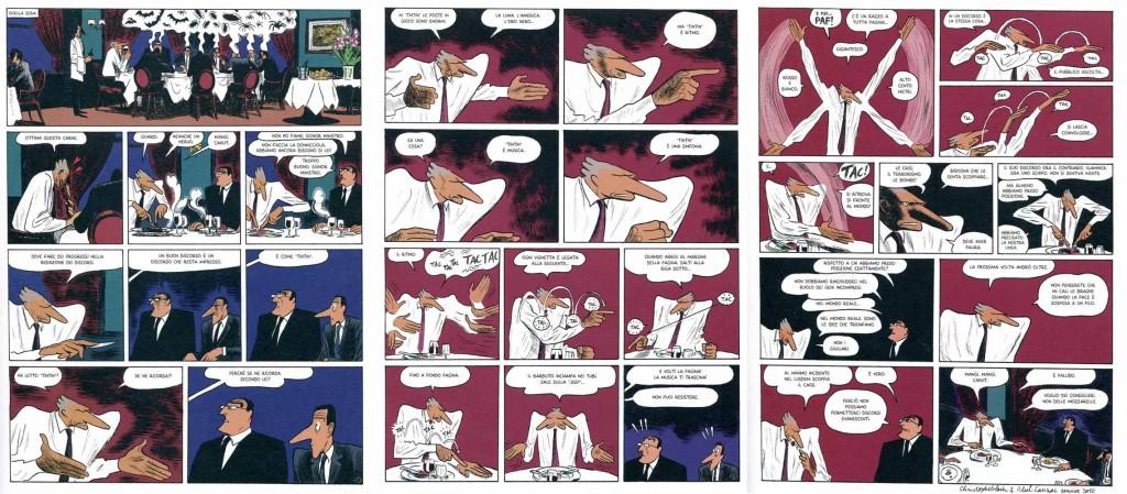 """Blain e Lanzac, """"I segreti del Quai d'Orsay"""" (Coconino 2011), pp. 39-41"""