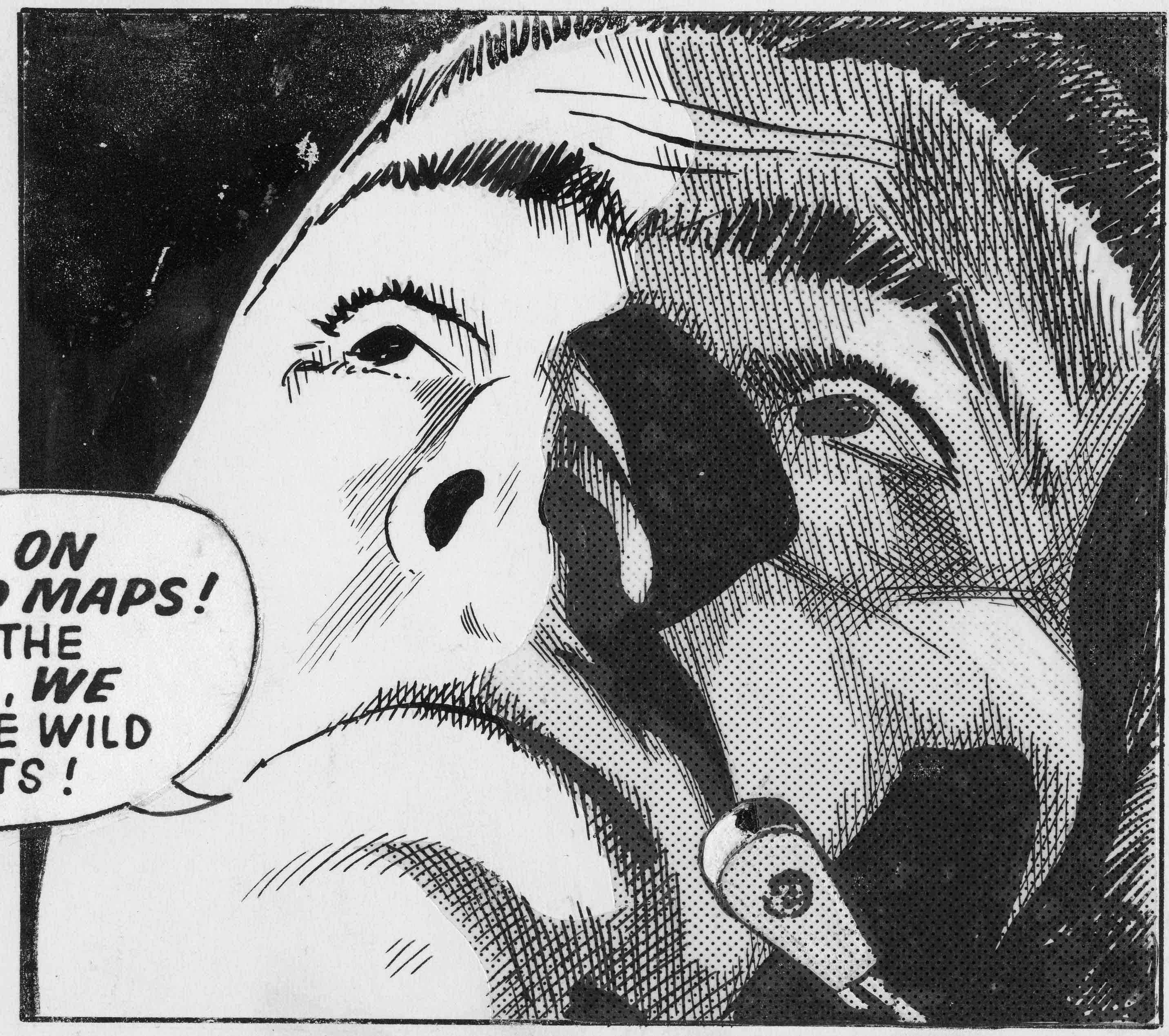 "Sydney Jordan, dettaglio da una striscia di ""Jeff Hawke"", Gennaio 1971"