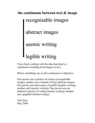 Tim Gaze on asemic writing (da Wikipedia)