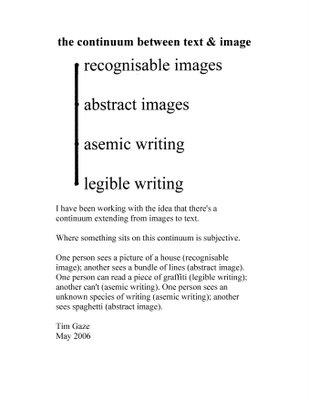 Tim Gaze on asemic writing (da Wikipedia)