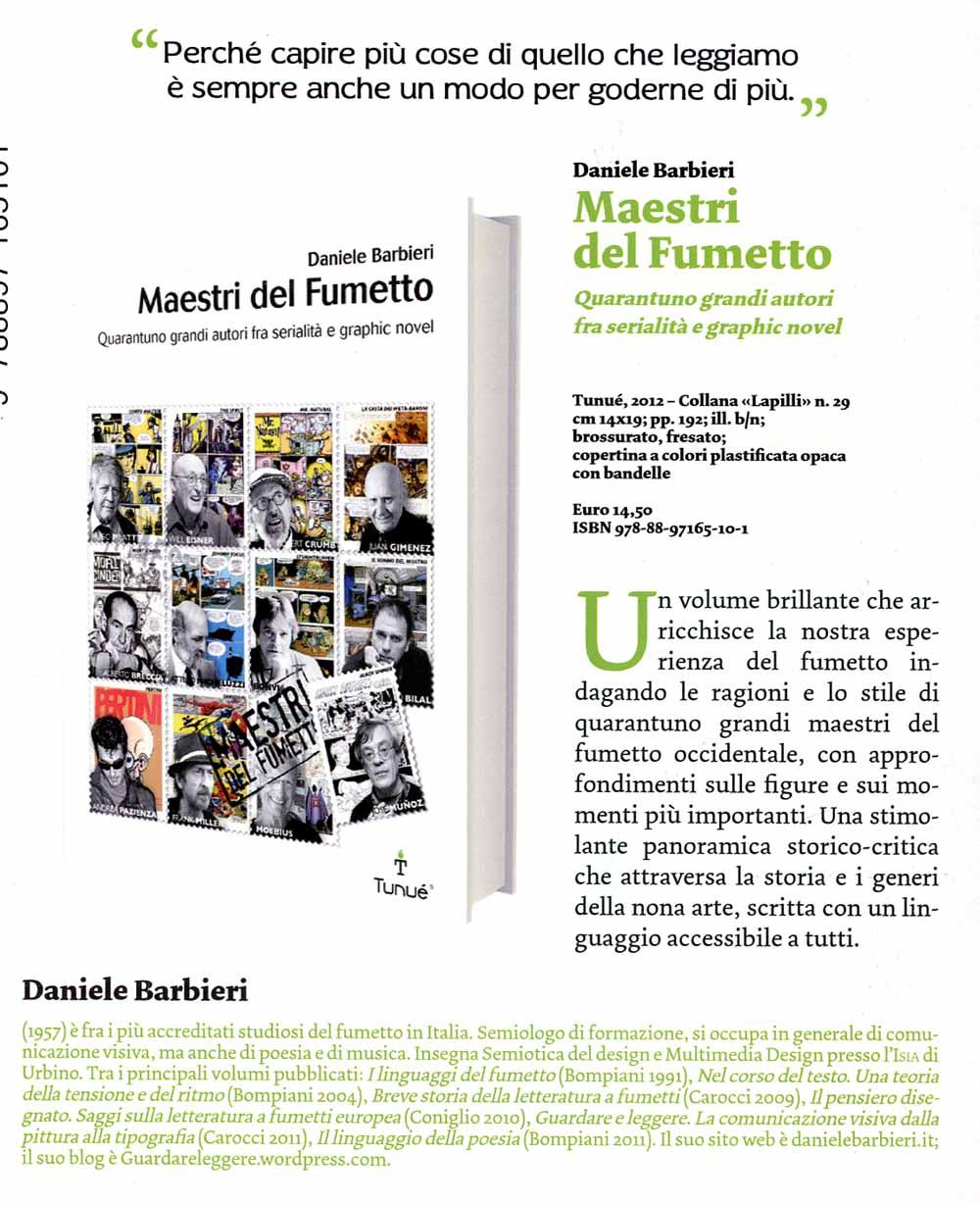 Maestri del fumetto, Dal catalogo anteprime Tunuè