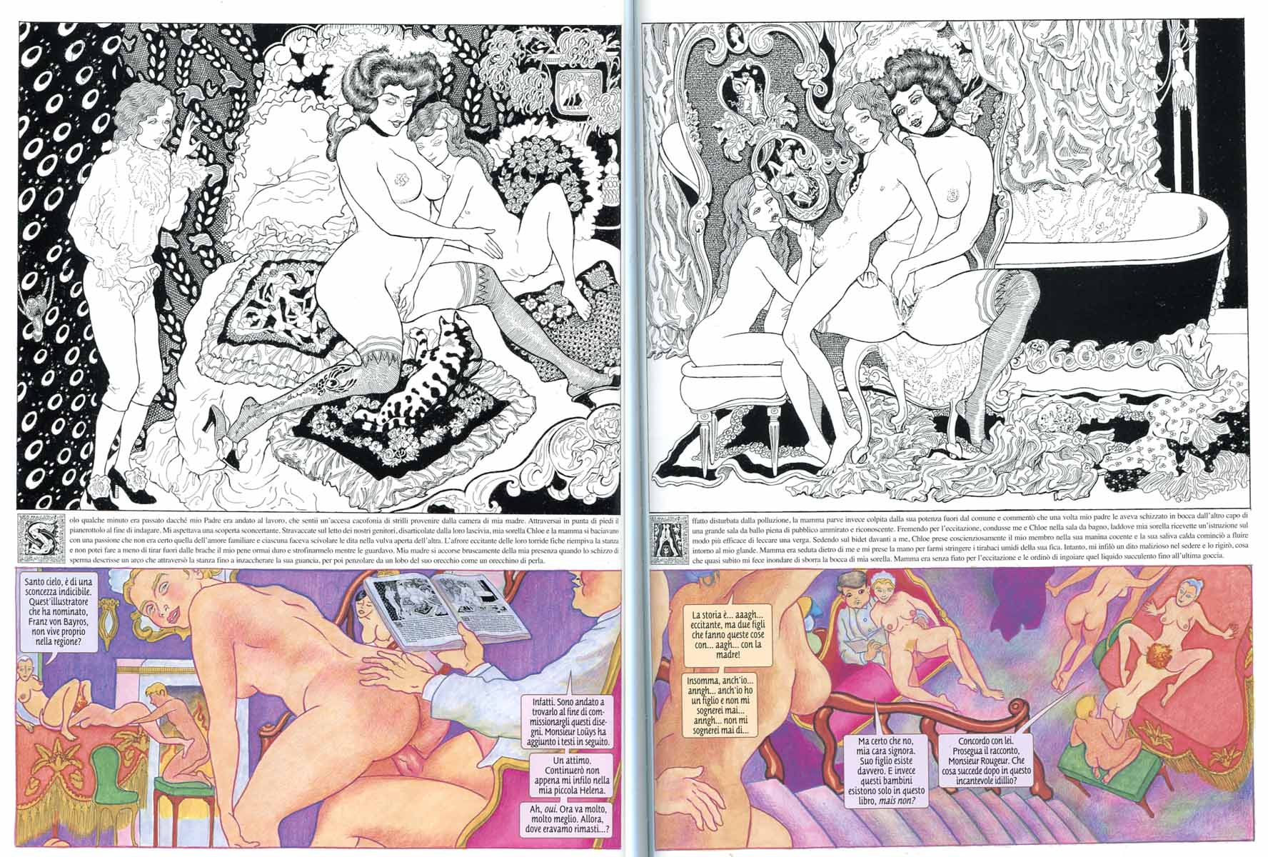 "Alan Moore & Melinda Gebbie, ""Lost Girls"" (Magic Press) cap. 10 pp.2-3 (trad. Leonardo Rizzi)"