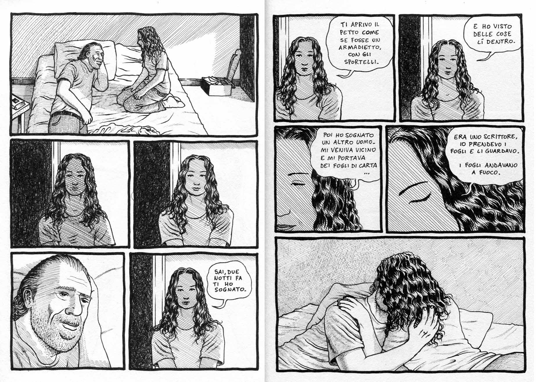 "Flavio Montelli, ""Goodbye Bukowski"" (Coconino 2012), pp.42-43"