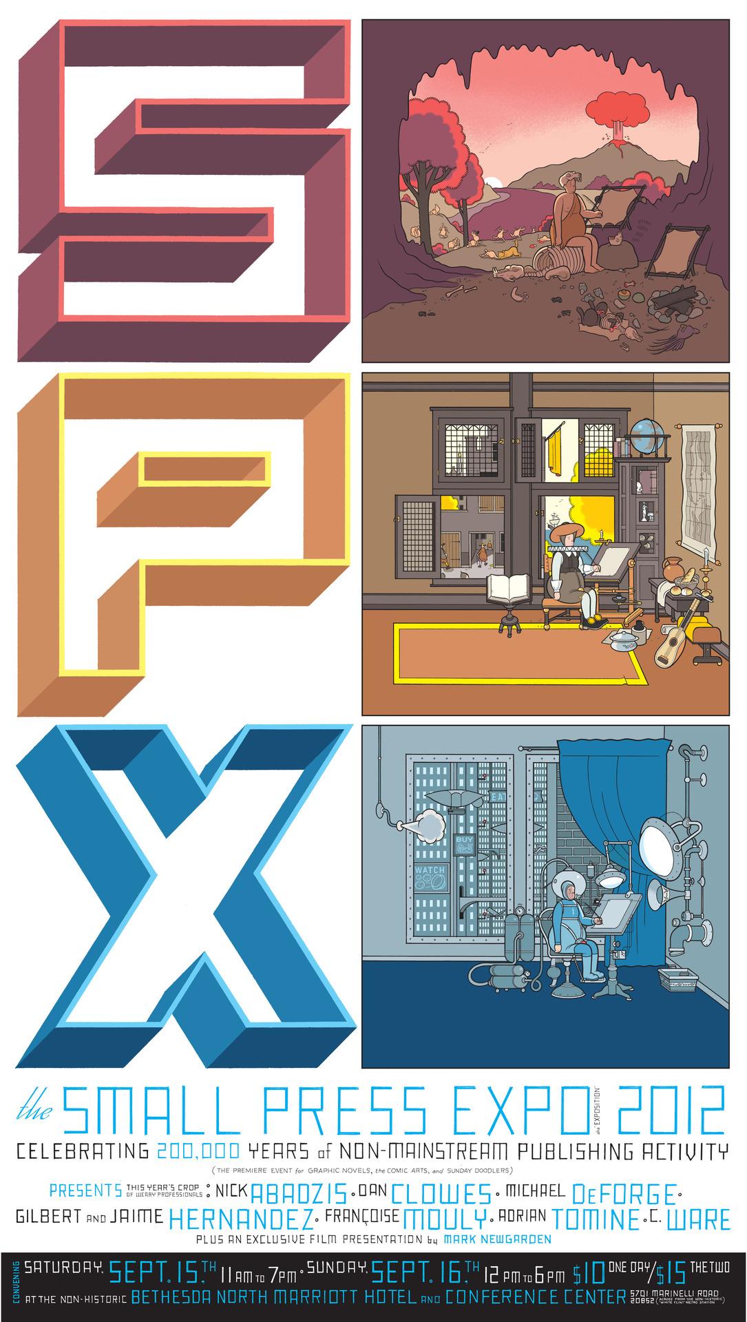 Chris Ware - SPX 2012 poster