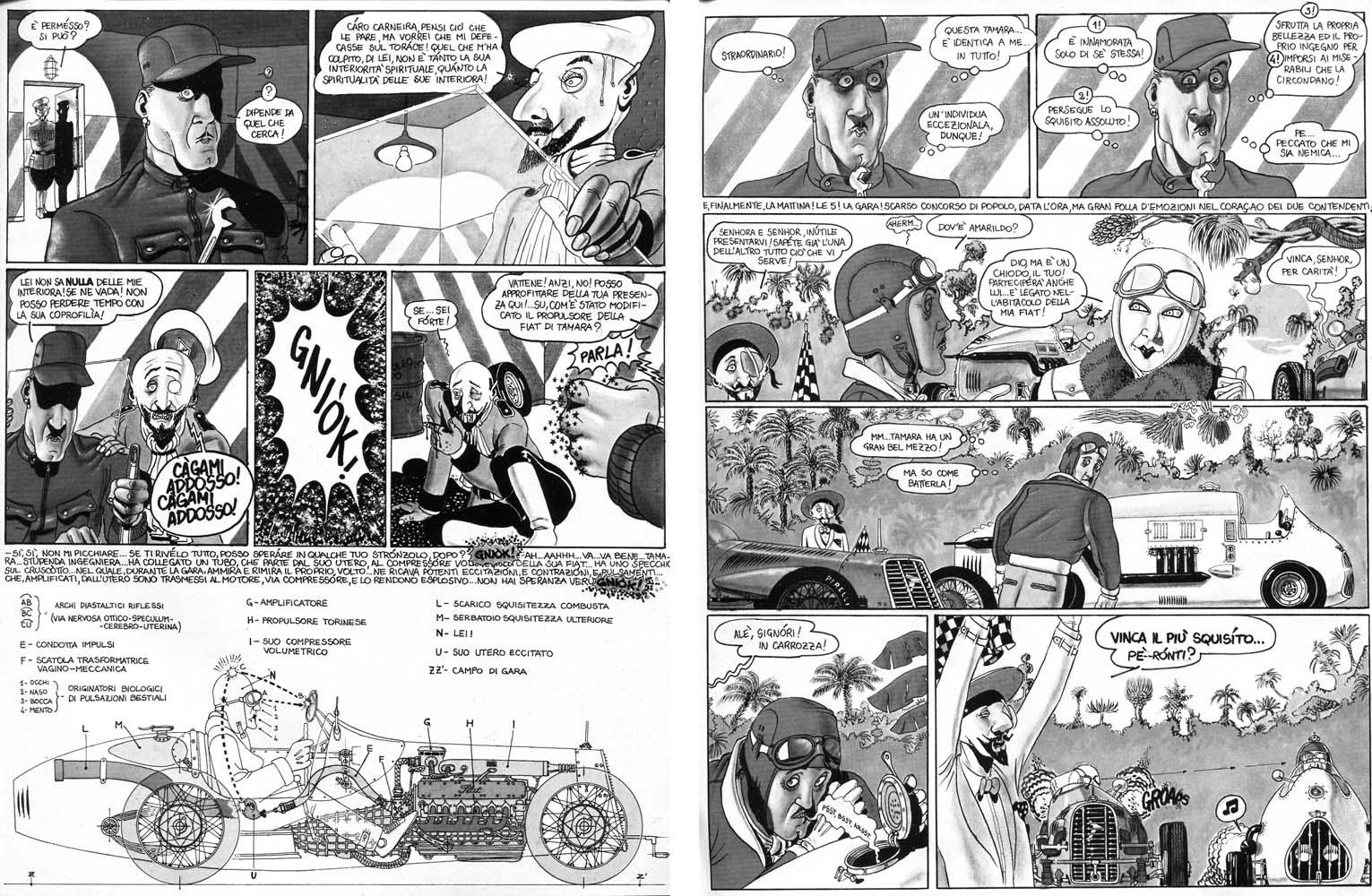 """Filippo Scozzari, """"Primo Carnera e la gara di squisitezza"""", da Frigidaire n.1"""