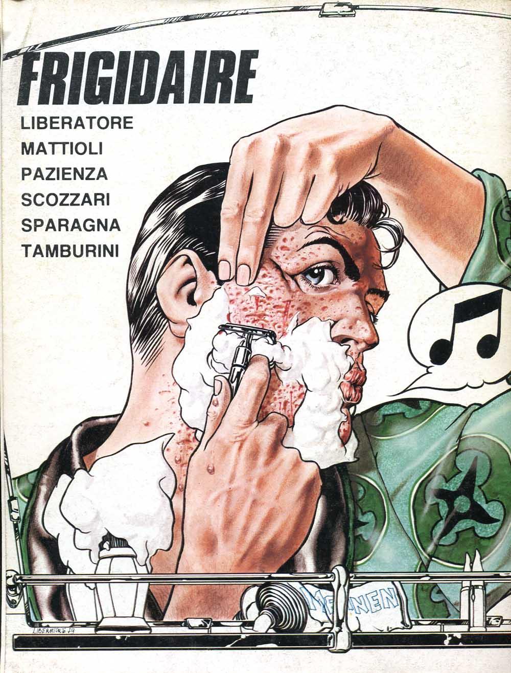 Tanino Liberatore, Frigidaire n.1, quarta di copertina