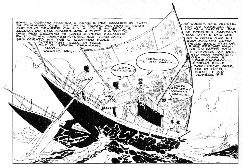 Hugo Pratt, Una Ballata del mare salato, la prima vignetta