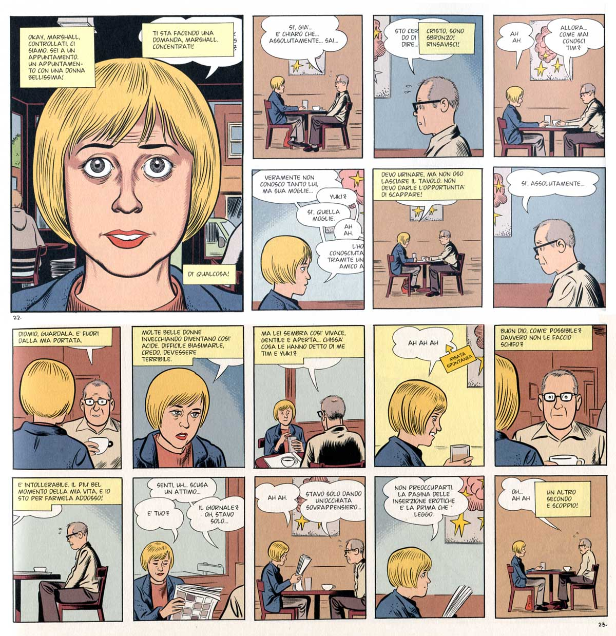 "Daniel Clowes, ""Mister Wonderful"", pp. 22-23"