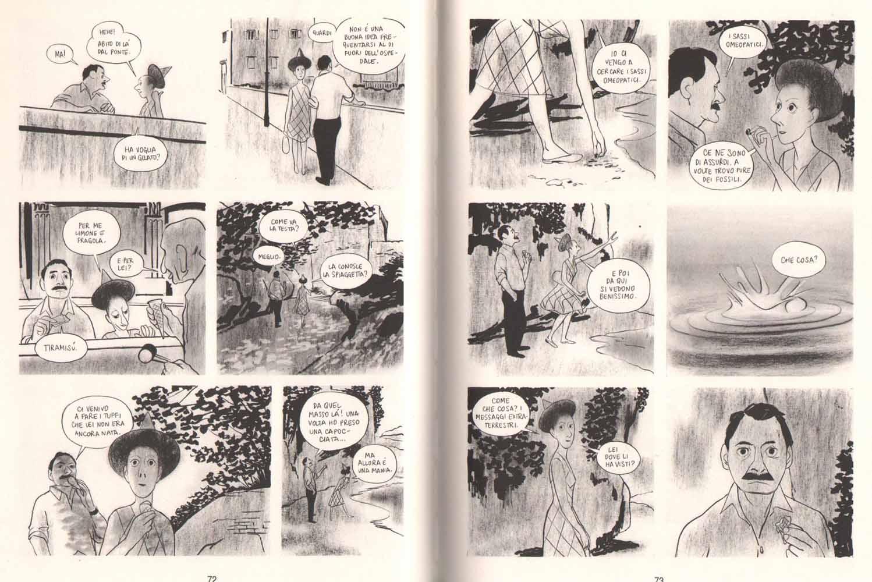 """Manuele Fior, """"L'intervista"""", Coconino 2013, pp.72-73"""