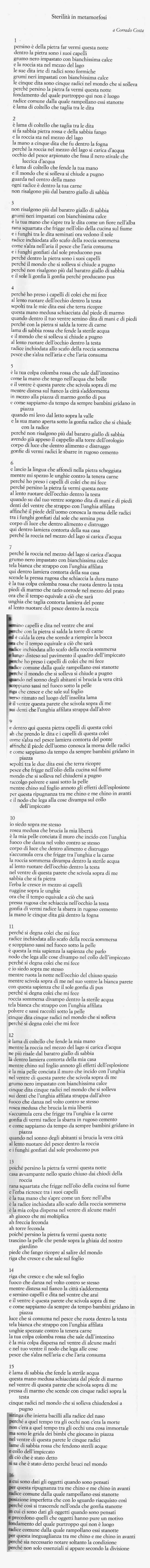 """Adriano Spatola, da """"L'ebreo Negro"""" (1966), oggi in """"Le poesie"""", Edizioni delle poesie di Adriano Spatola, 2012"""