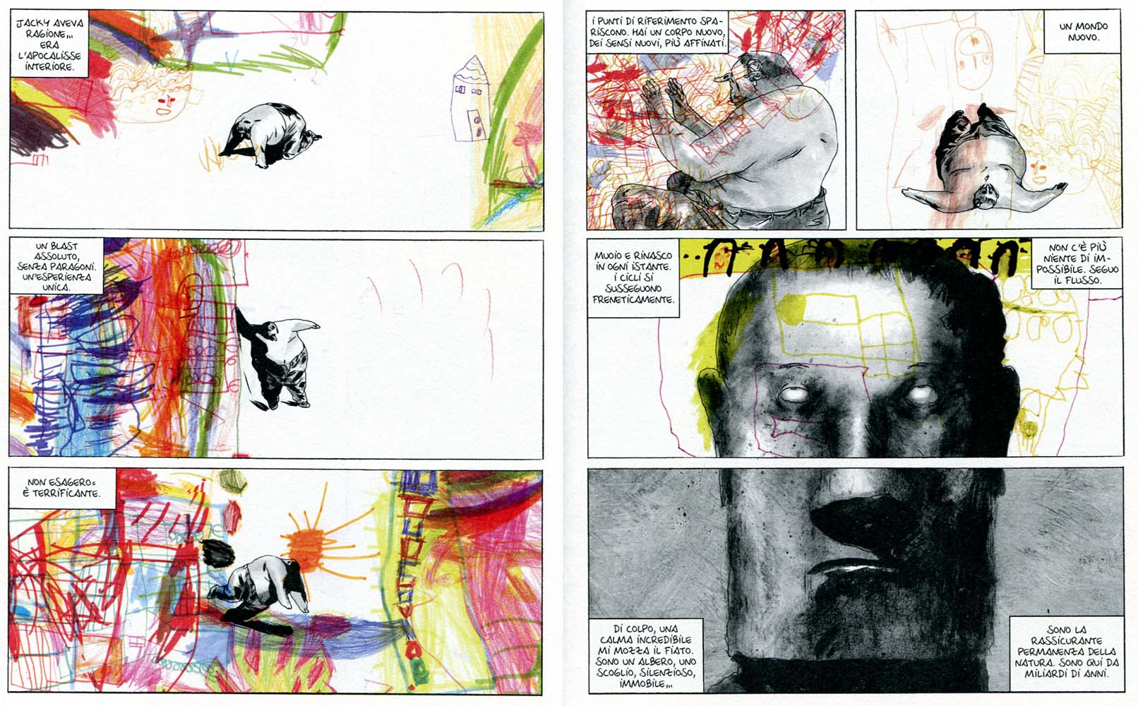 "Manu Larcenet, ""Blast. II"", Coconino 2013, pp.142-143"