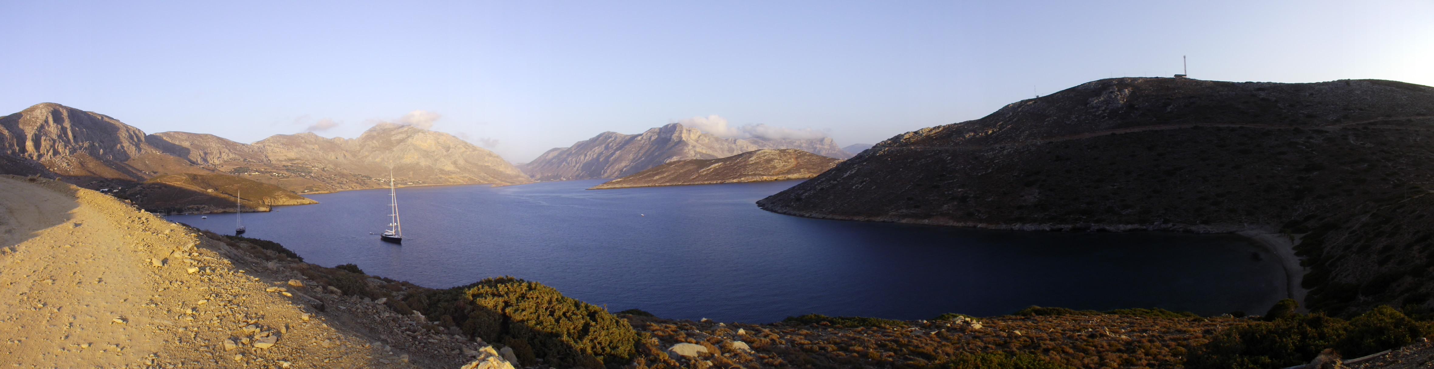 Kalymnos nord, dall'alto