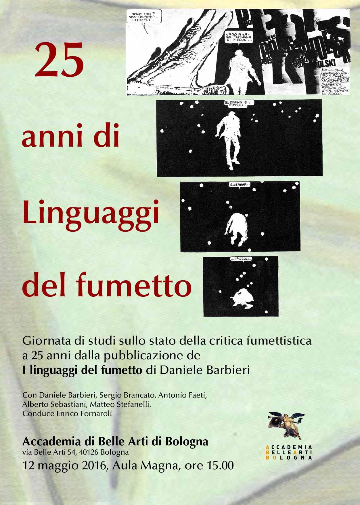 Locandina 25 anni di Linguaggi del fumetto